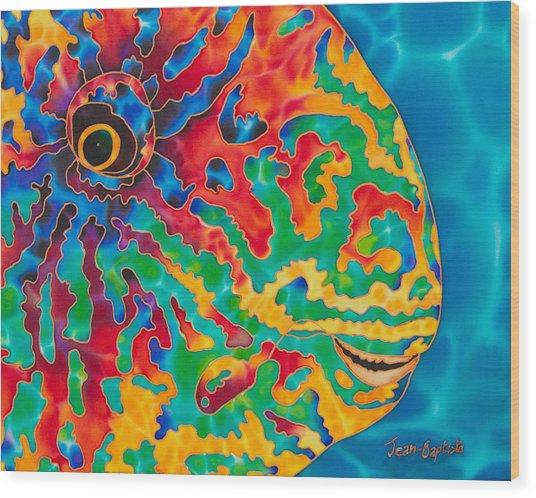 Parrotfish Wood Print