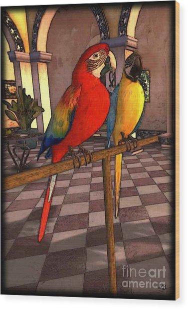Parrots1 Wood Print