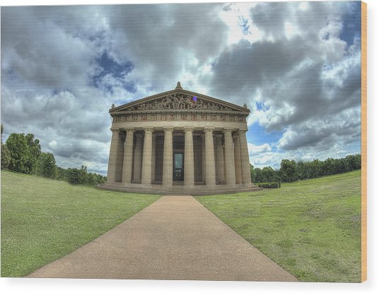 Parthenon Wood Print by Honour Hall