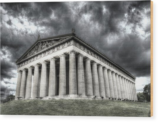 Parthenon Of Nashville Wood Print by Honour Hall