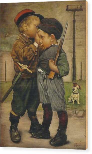 Partisans Wood Print by Jaro Zbijar