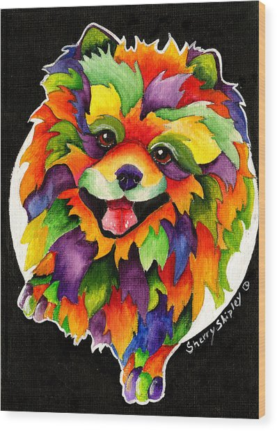 Party Pom Wood Print