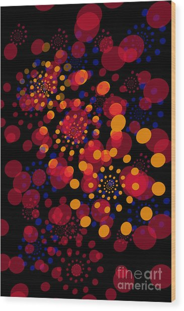 Party Time Abstract Painting Wood Print