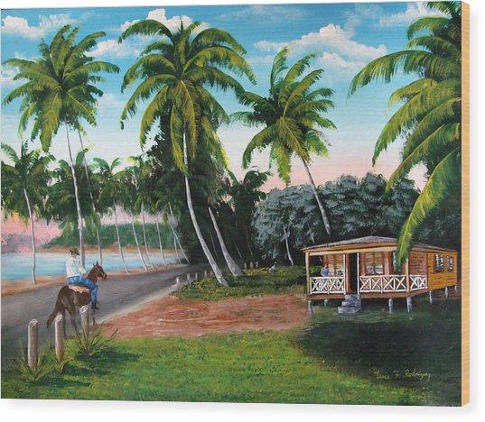 Paseo Por La Isla Wood Print