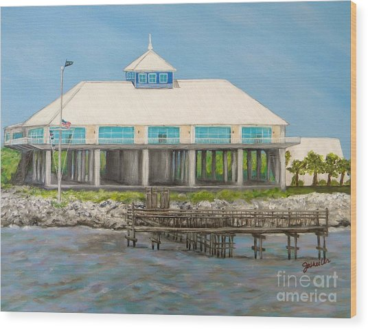 Pass Christian Yacht Club Wood Print