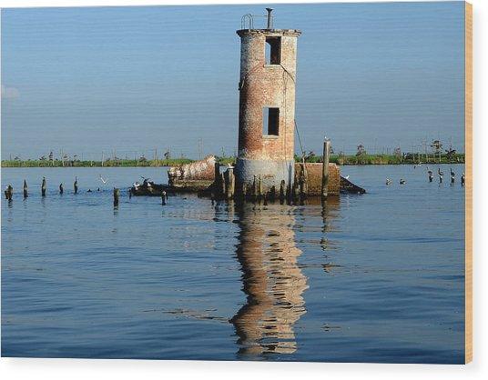 Pass Manchac Lighthouse Wood Print