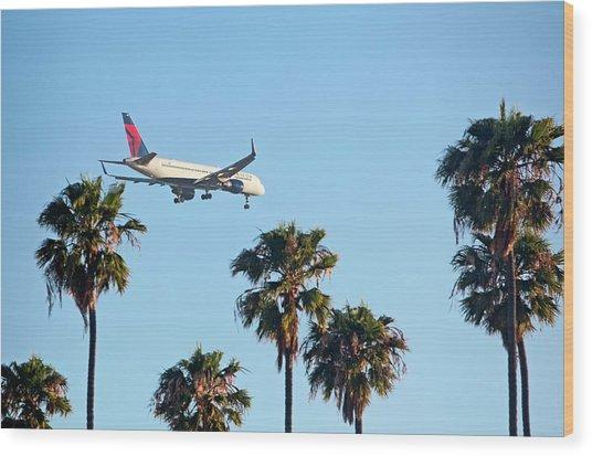 Passenger Jet Airliner Landing Wood Print