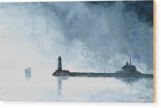 Passing Storm - Duluth Harbor Wood Print