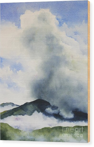Passing Storm On Mt. Diablo Wood Print