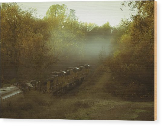Passing Through Auburn Wood Print