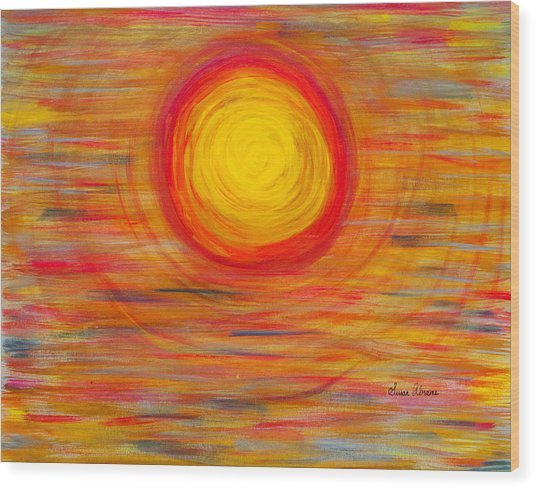 Passion Sun Wood Print