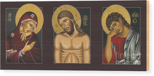 Passion Triptych Wood Print