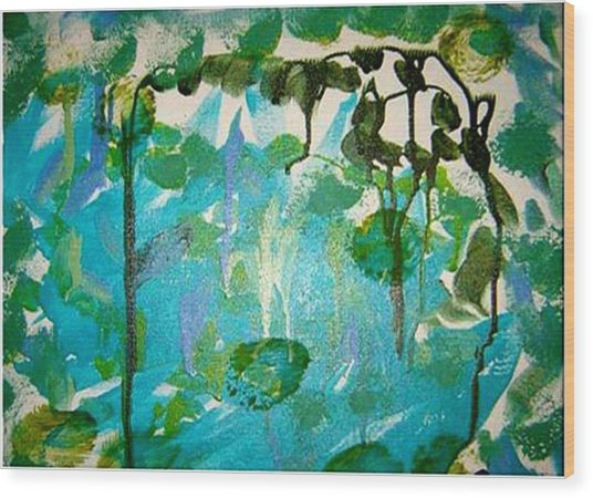 Passion Vine Wood Print