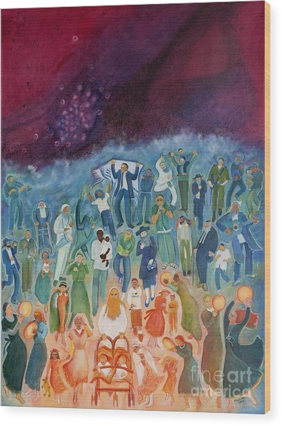 Passover Not Only Our Fathers Wood Print by Chana Helen Rosenberg