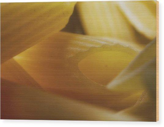 Pasta Macro Wood Print