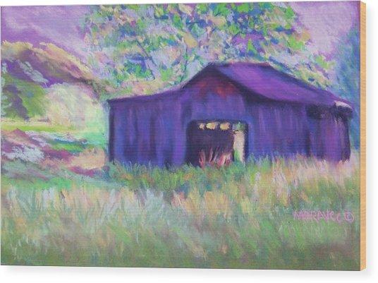 Pastel Barn II Wood Print