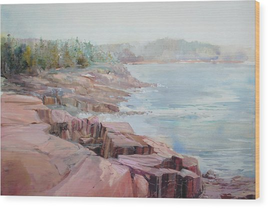 Pastel Cove Wood Print