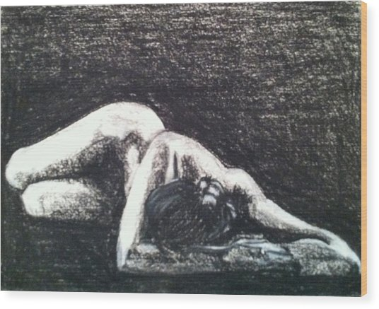 Pastel Inspired By Ruth Bernhard's Perspective II Wood Print