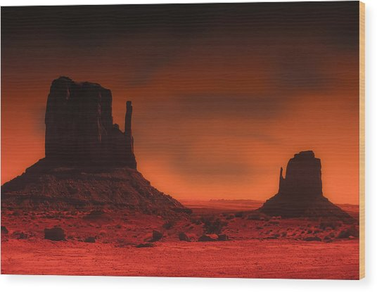 Pastel Monument Valley Wood Print by Gary Cain