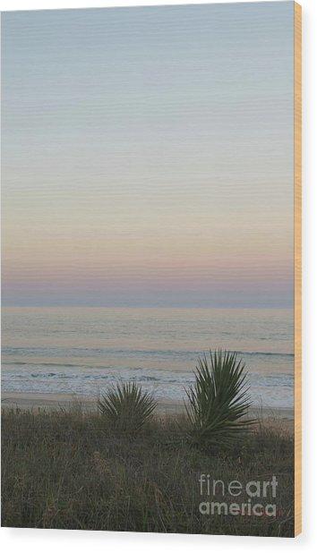 Pastel Moonrise II Wood Print