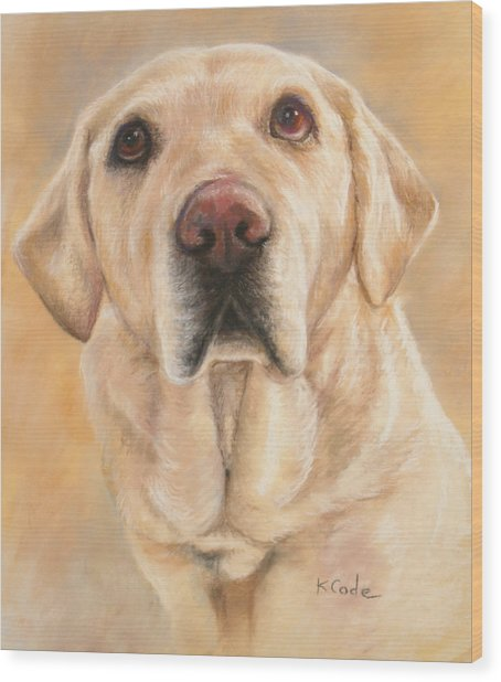 Pastel Portrait Wood Print
