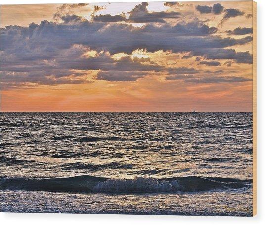 Pastel Sunset 1 Wood Print by Lisa Merman Bender