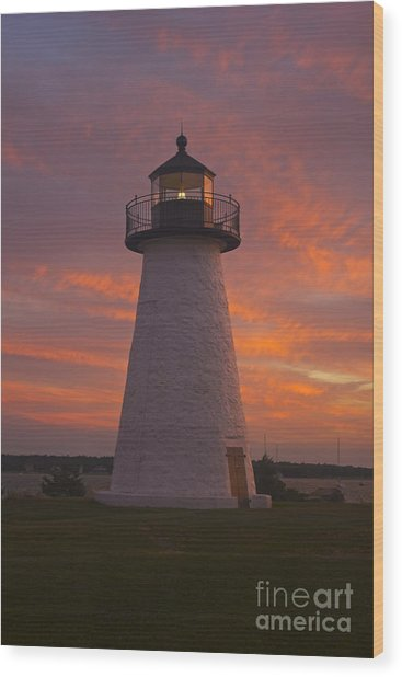 Pastel Sunset At Ned'spoint Wood Print
