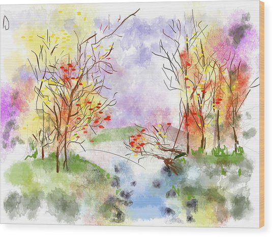 pastel woods digital art by micheline erhorn