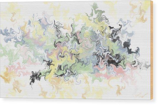 Pastels Gone Mad Wood Print