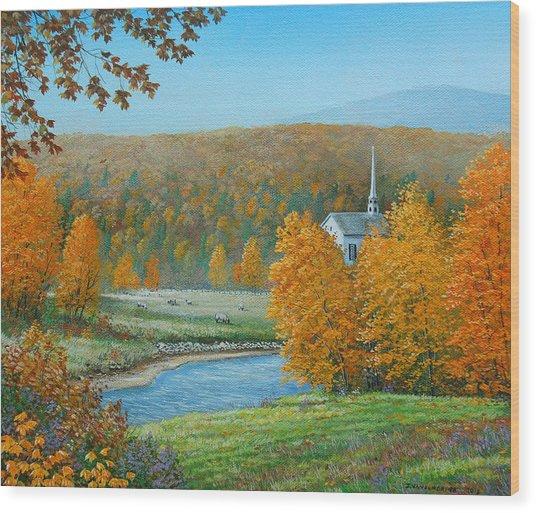 Pastoral Countryside Wood Print