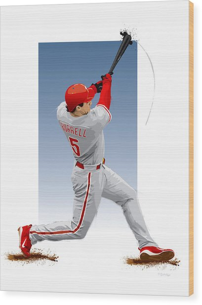 Pat The Bat Burrell Wood Print