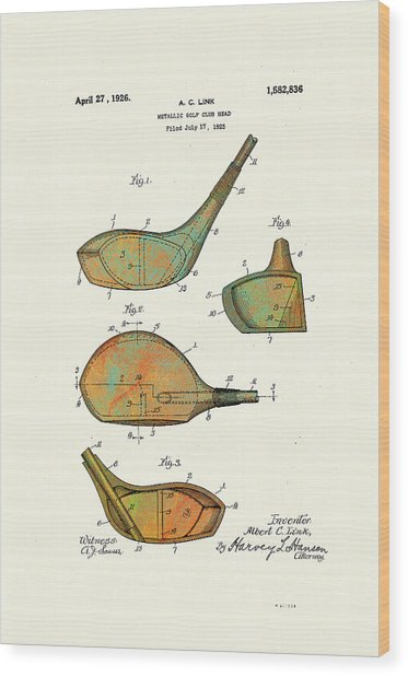 Patented Golf Club Heads 1926 Wood Print