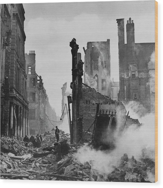 Paternoster Row After Bombing Wood Print