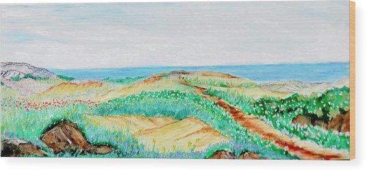 Path Of Blossom Wood Print