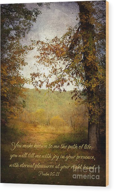 Path Of Life Wood Print