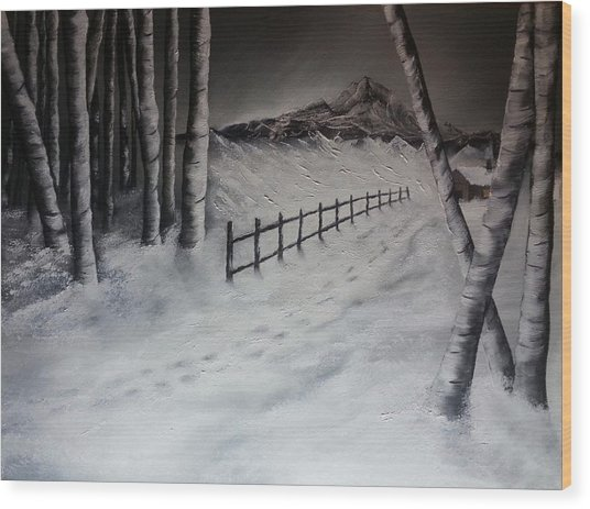 Path To Solitude Wood Print
