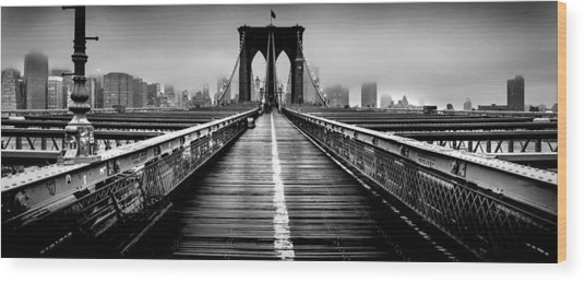 Path To The Big Apple Wood Print