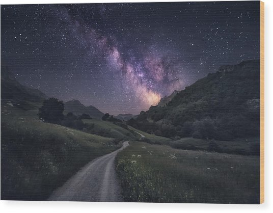 Path To The Stars Wood Print by Carlos F. Turienzo