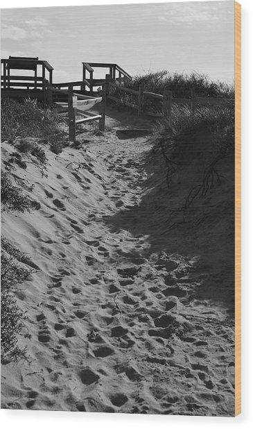 Pathway Through The Dunes Wood Print