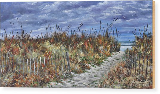 Pathway To North Myrtle Beach Wood Print