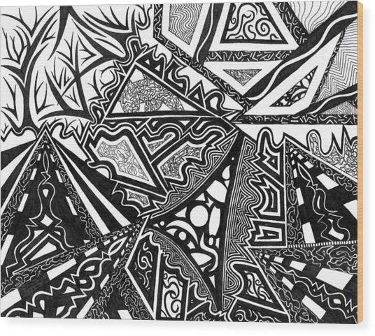 Pathways Wood Print by Kerri White