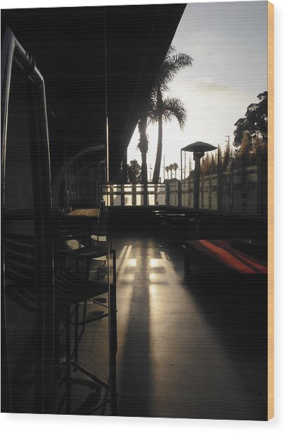 Patio Sunset Wood Print by Bruce Sommer