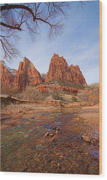 Patriarchs Of Zion Wood Print by Rick Lewis