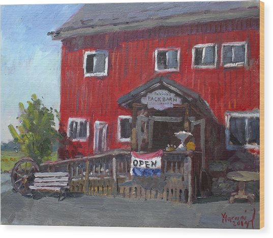 Patricia's Back Barn Wood Print