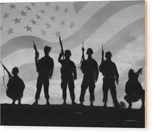 Patriots Of Freedom Wood Print