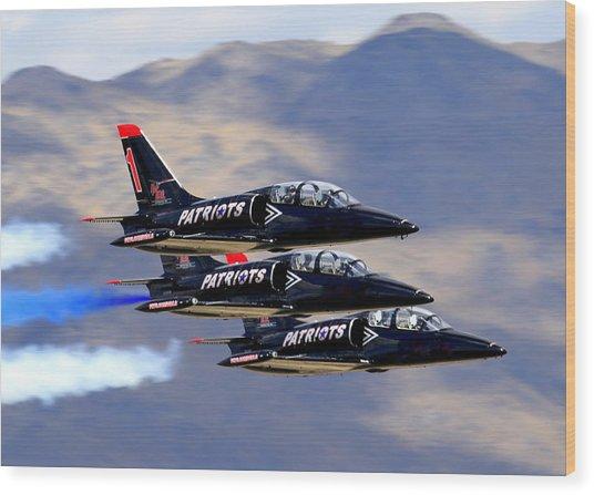 Patriots Perform At Reno Air Races Wood Print