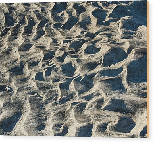 Patterns In Sand 1 Wood Print