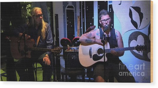 Paul Stephen Wilson And Jj Roetting Duet Wood Print by Shawn Lyte