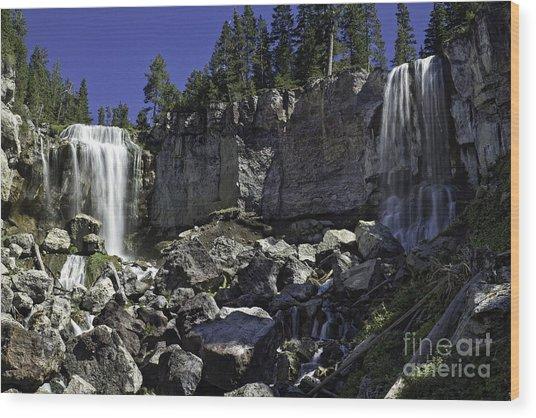Paulina Falls Wood Print