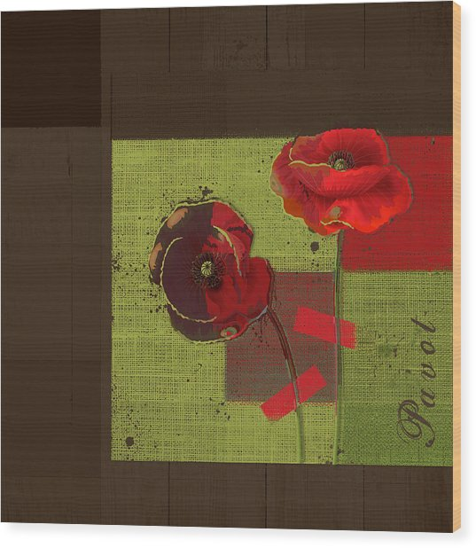Pavot - 128128146bl01b Wood Print